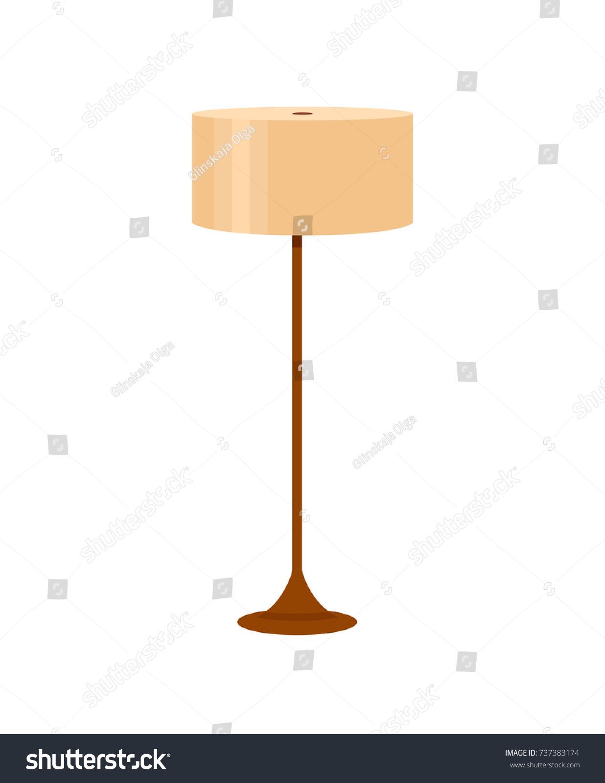 Colorful Cartoon Floor Lamp Light Icon Stock Vector 737383174 ... for Floor Lamp Clipart  34eri