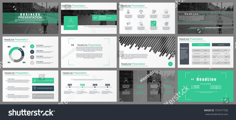 Green Gray Business Presentation Slides Templates Stock Photo (Photo ...