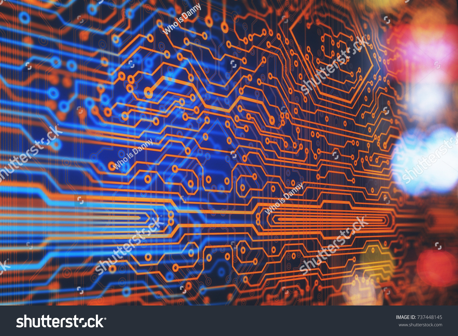 Abstract Circuit Board Background Processor Concept Stock Electric Tshirts 3d Rendering