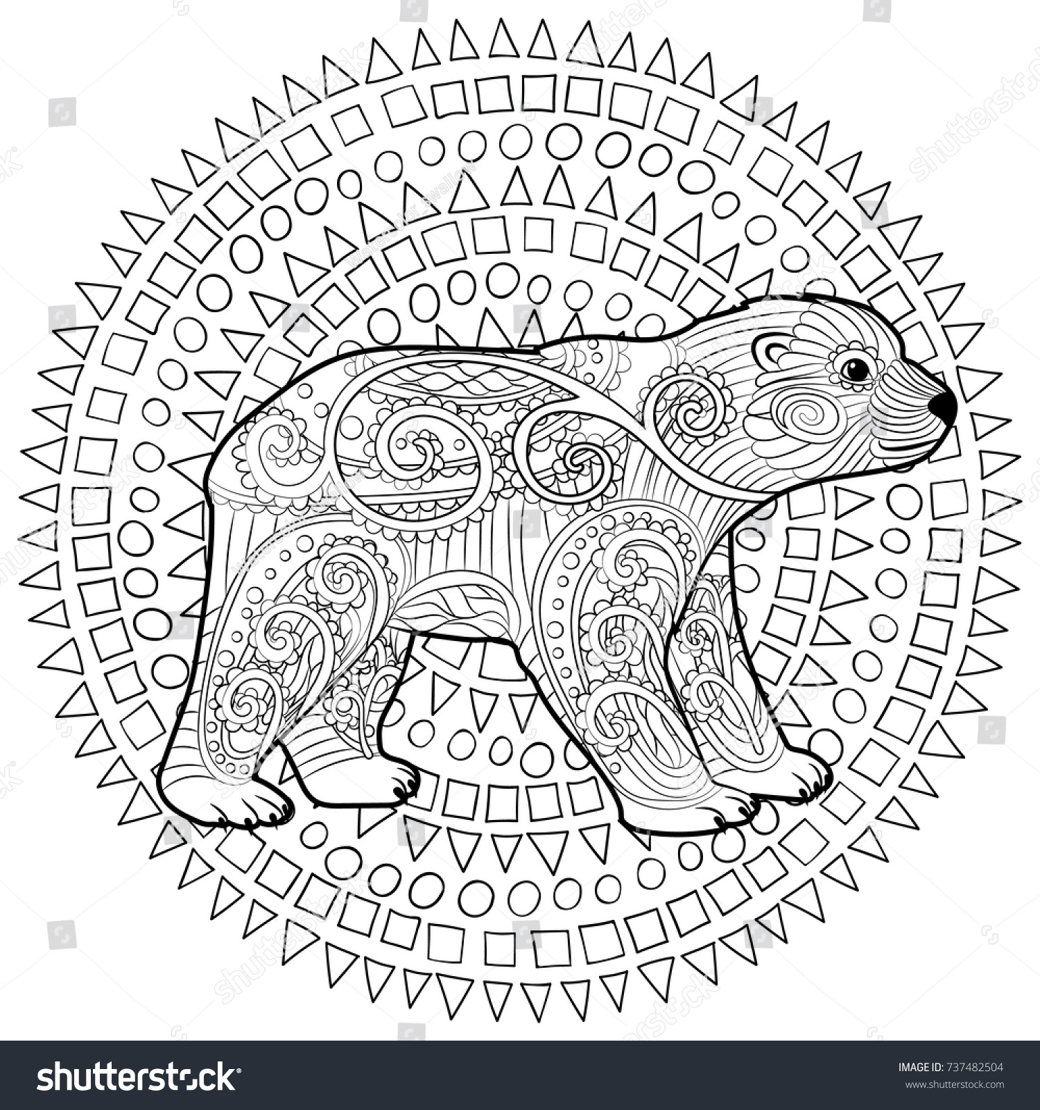 Hand Drawn Isolated Illustration Baby Polar Stock Vector 737482504