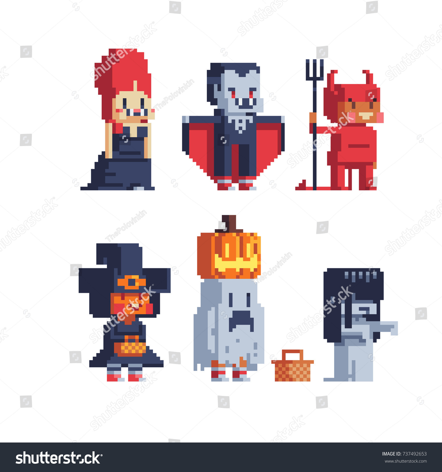 Halloween Trick Treating Vampire Chost Cute Stock Vector 737492653 ...