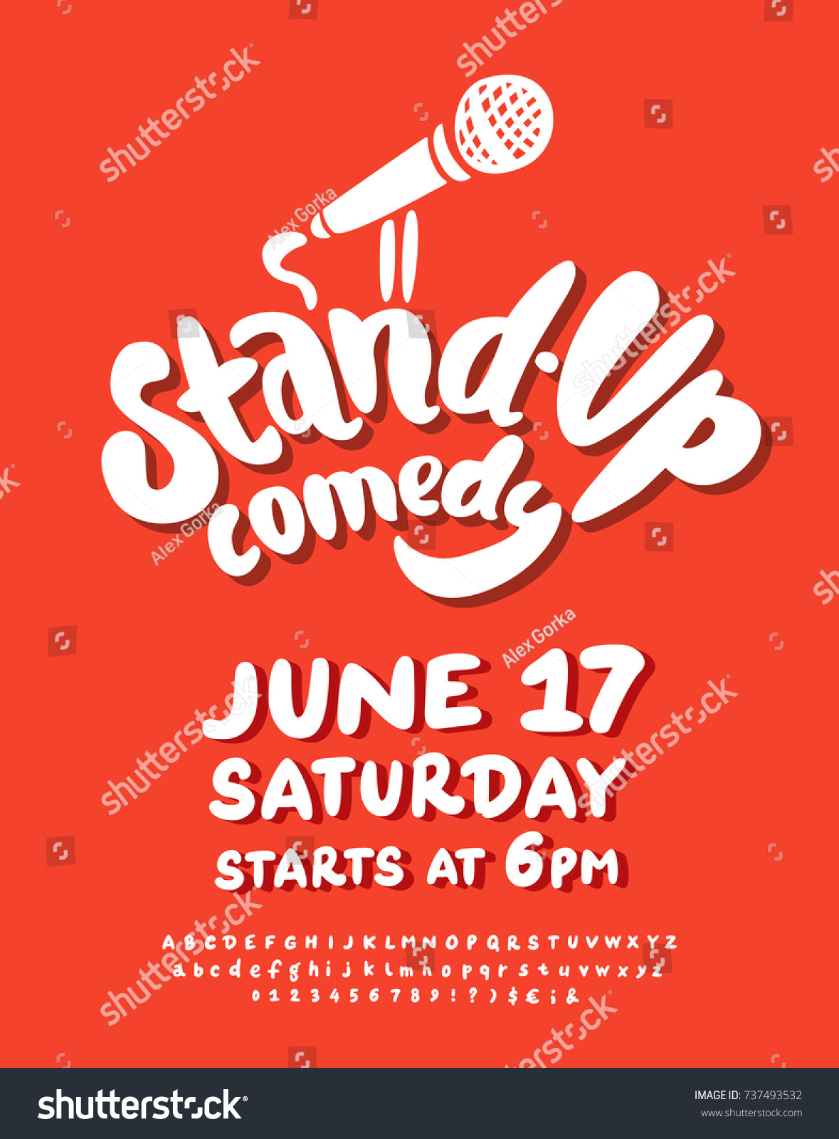 Stand Comedy Poster Template Stock Vector Royalty Free 737493532