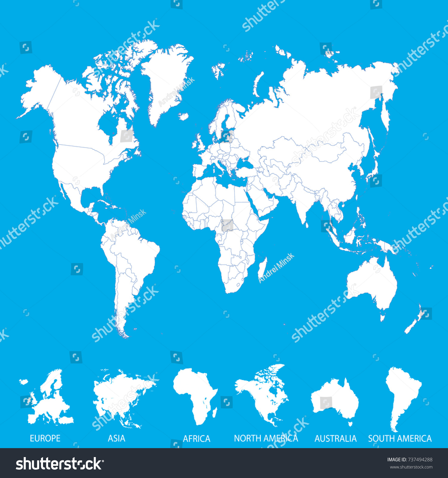 World map europe asia america africa vectores en stock 737494288 world map europe asia america africa australia gumiabroncs Images