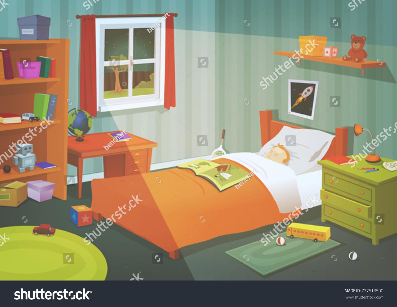Accessoire Chambre D Enfant image vectorielle de stock de chambre pour enfants ou