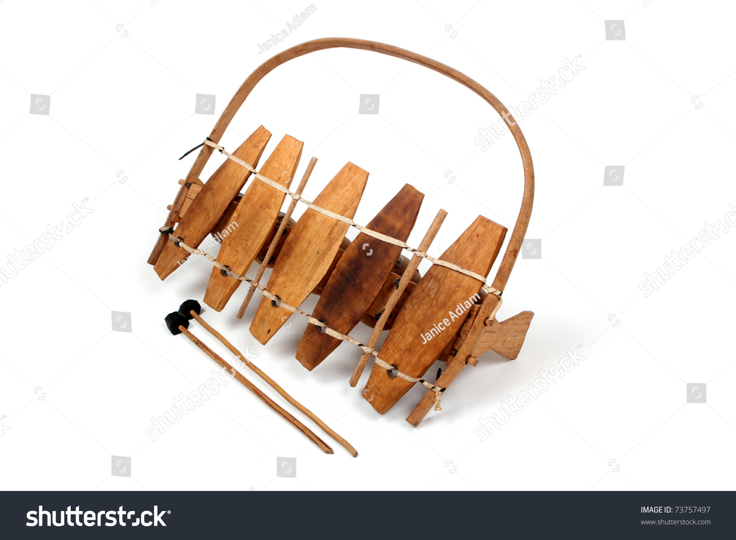 Traditional African Marimba Player Hands Playing Wooden ... |African Wooden Xylophone