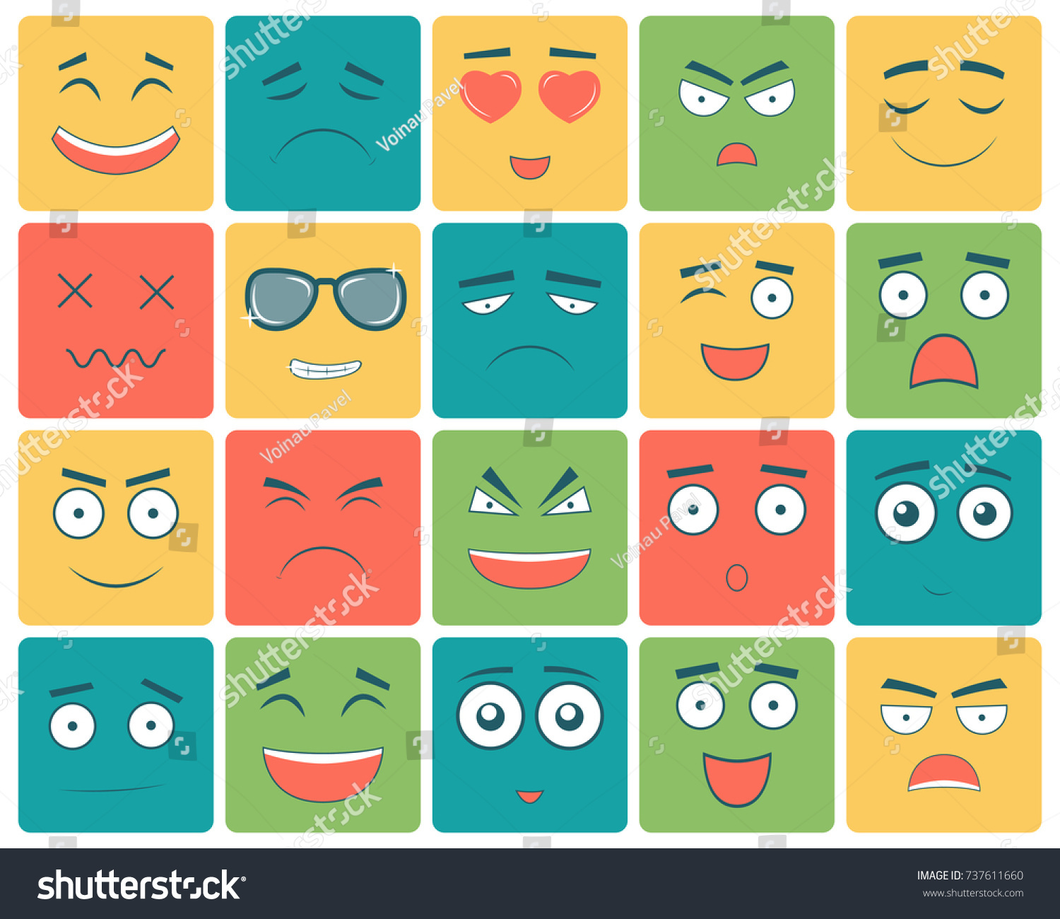 Emoticons set emoji isolated on white stock vector 737611660 emoticons set emoji isolated on white background emoticon for web site chat biocorpaavc Image collections