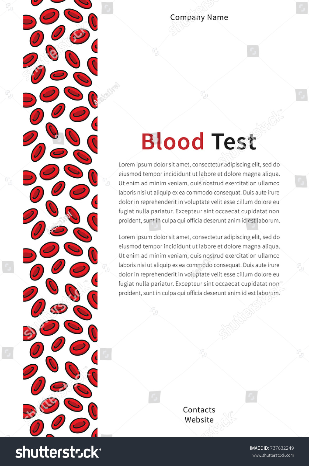 blood test cover page vector template stock vector 737632249, Presentation templates
