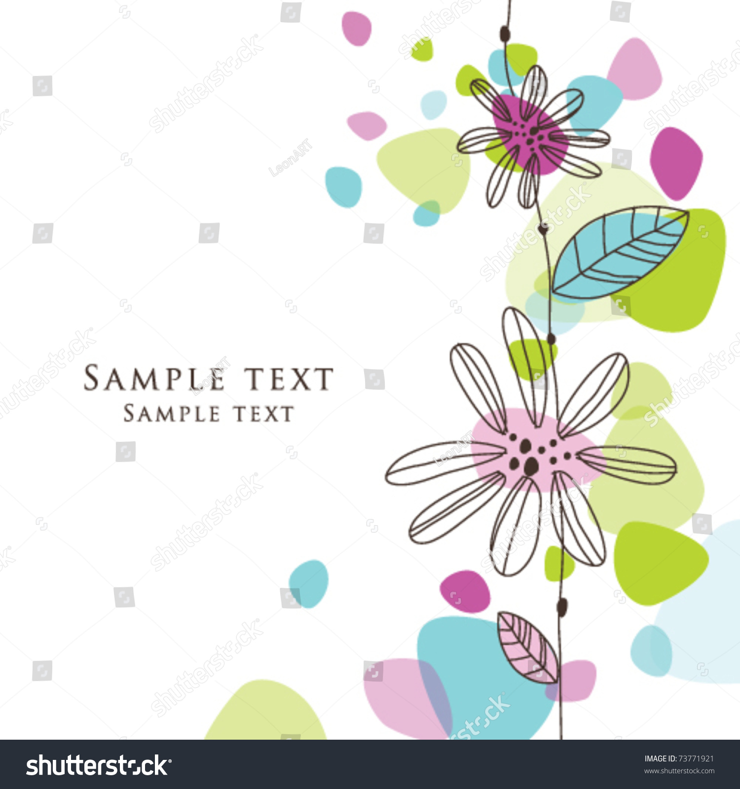 cute birthday greeting card stylish colorful stock vector, Birthday card