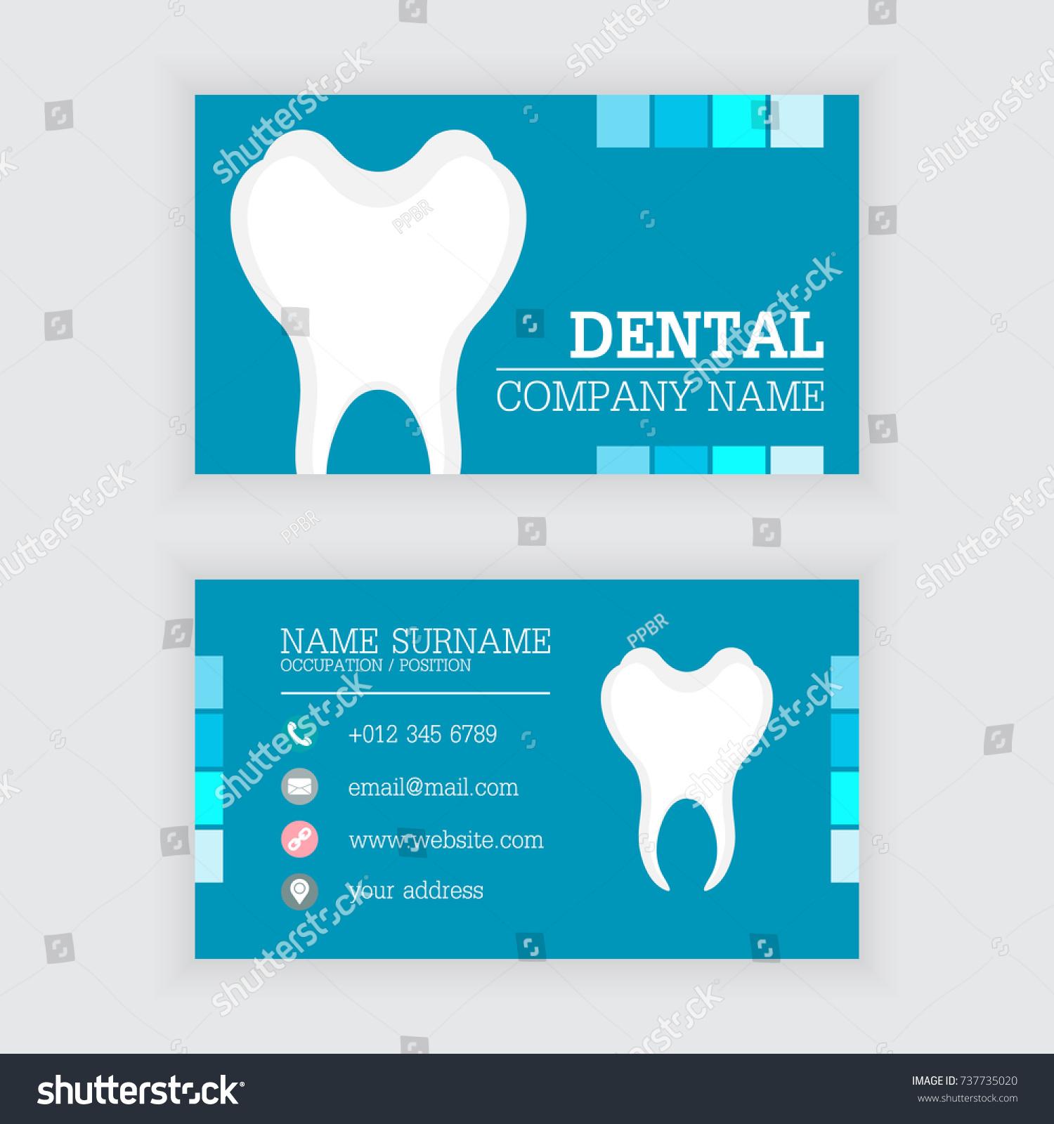 Vector Design Modern Dental Business Card Stock Vector 737735020 ...
