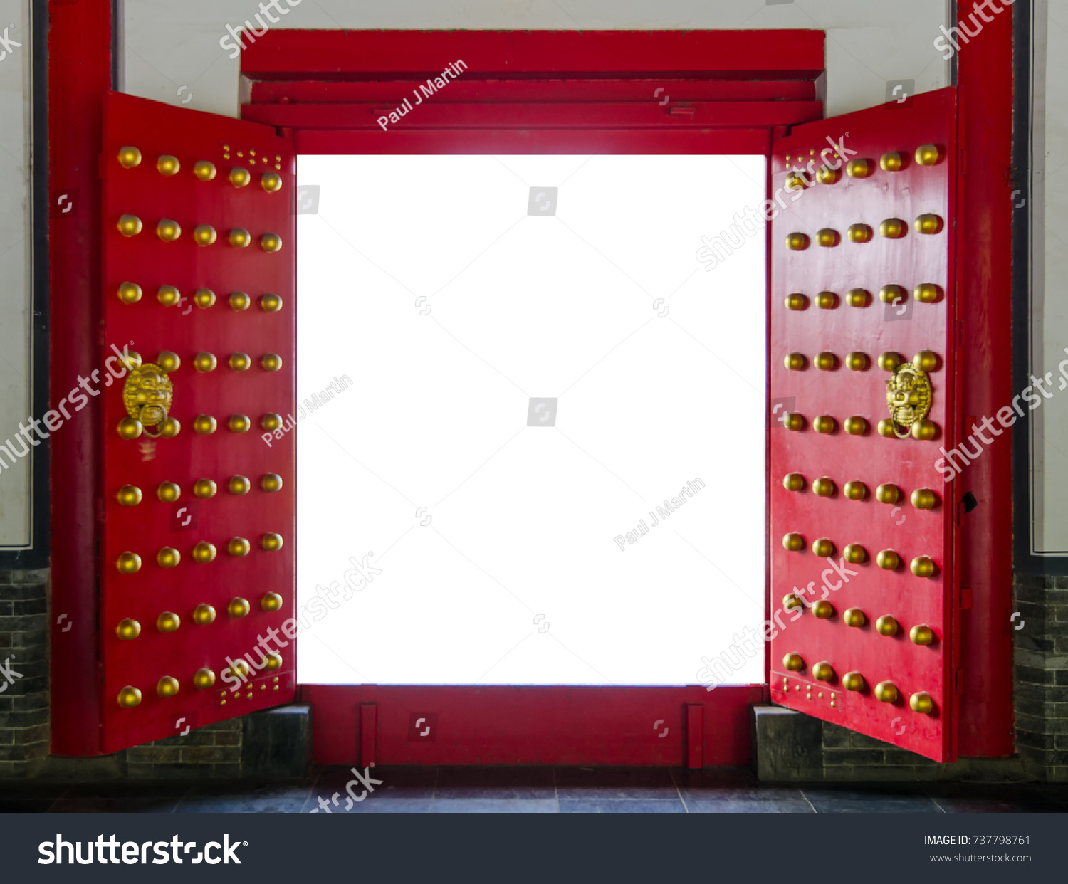 Red Chinese Temple Door Can Be Stock Photo Edit Now 737798761
