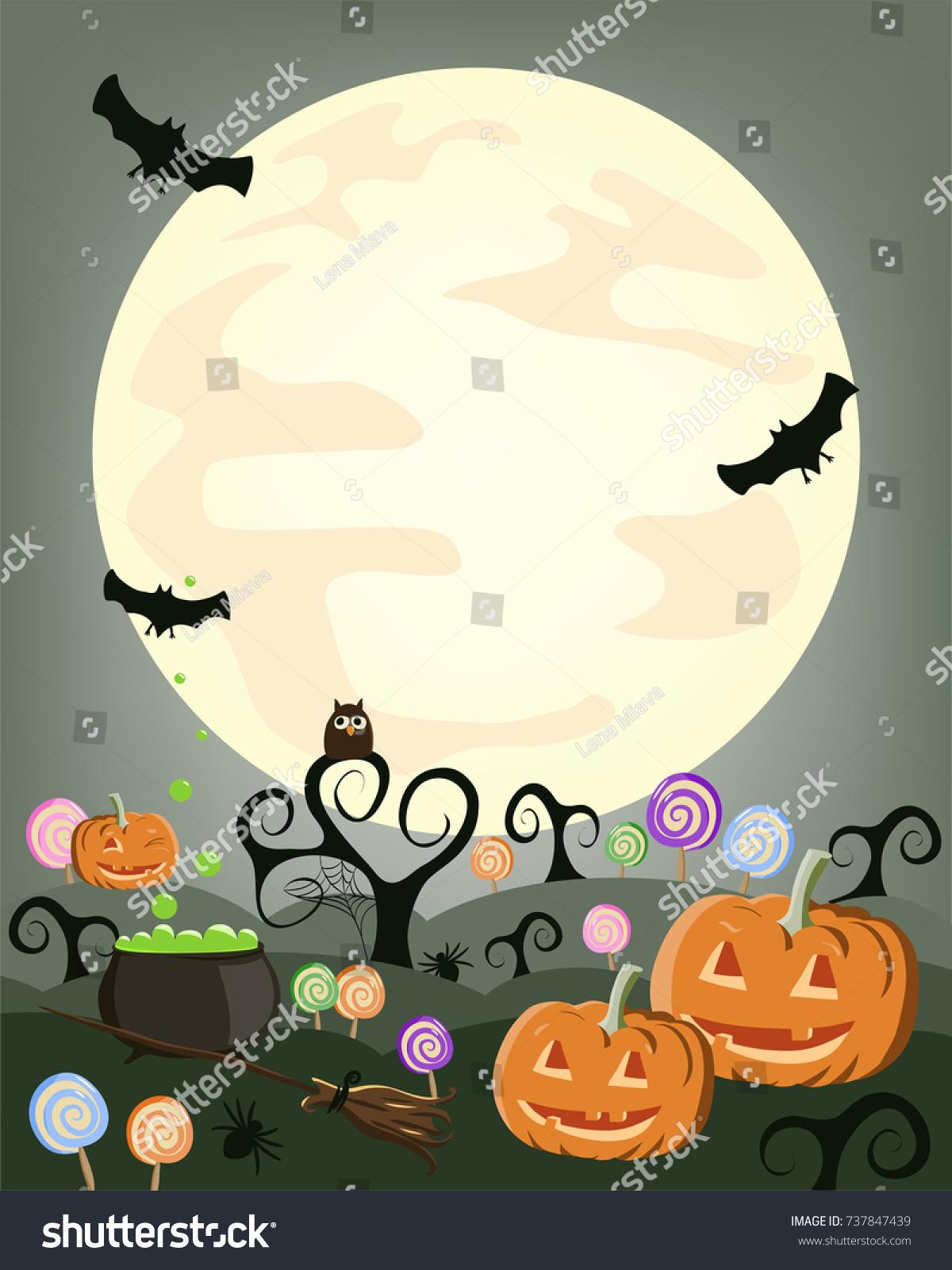 Trick Treat Halloween Banner Poster Template Stock Vector 737847439 ...
