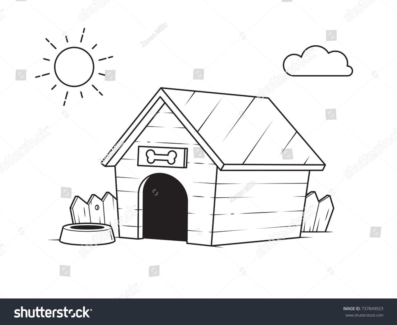 Vector De Stock Libre De Regalías Sobre Casa De Perros En