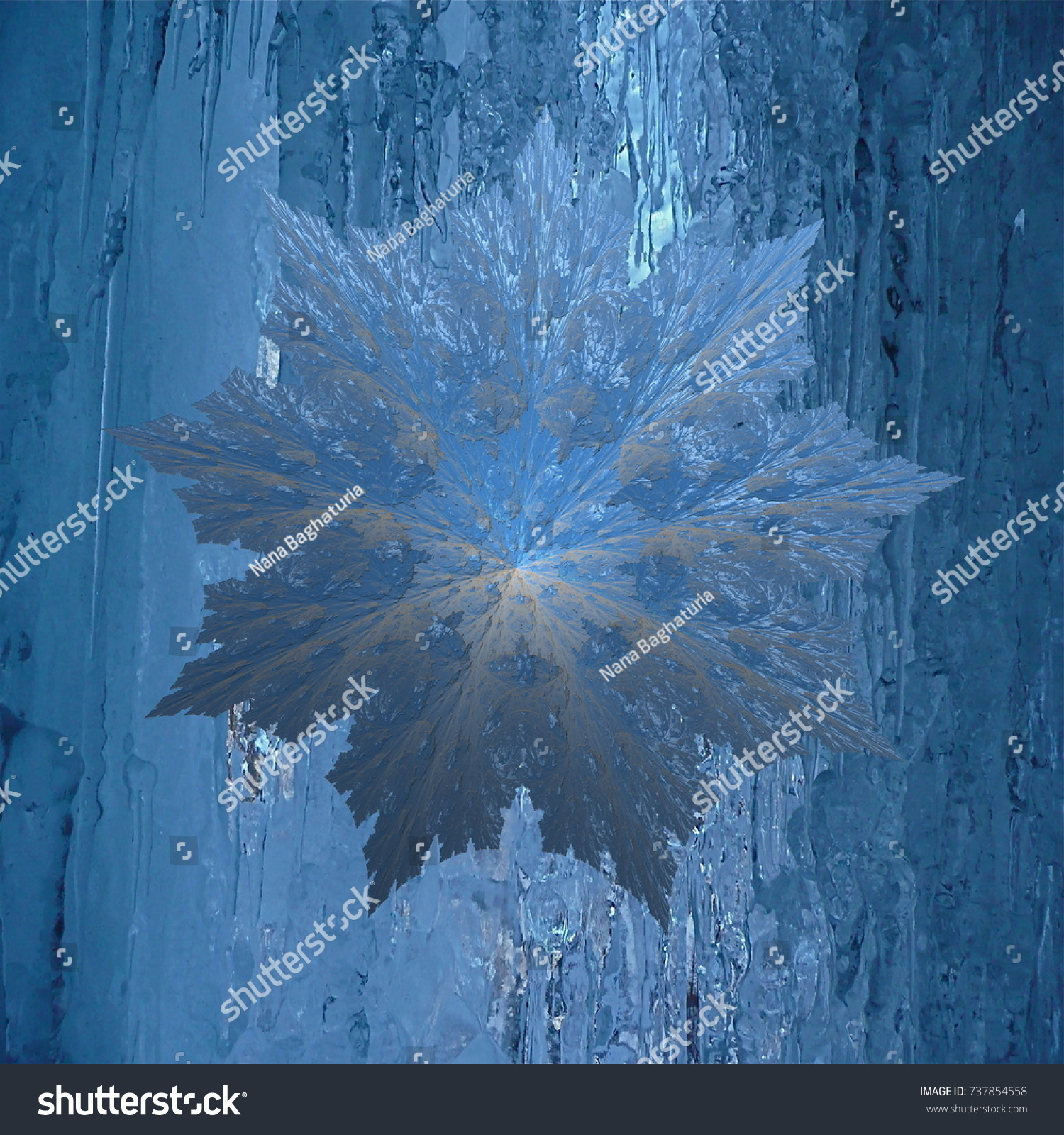 Composition Book Cover Background ~ Snowflake dimensional abstract composition background stock