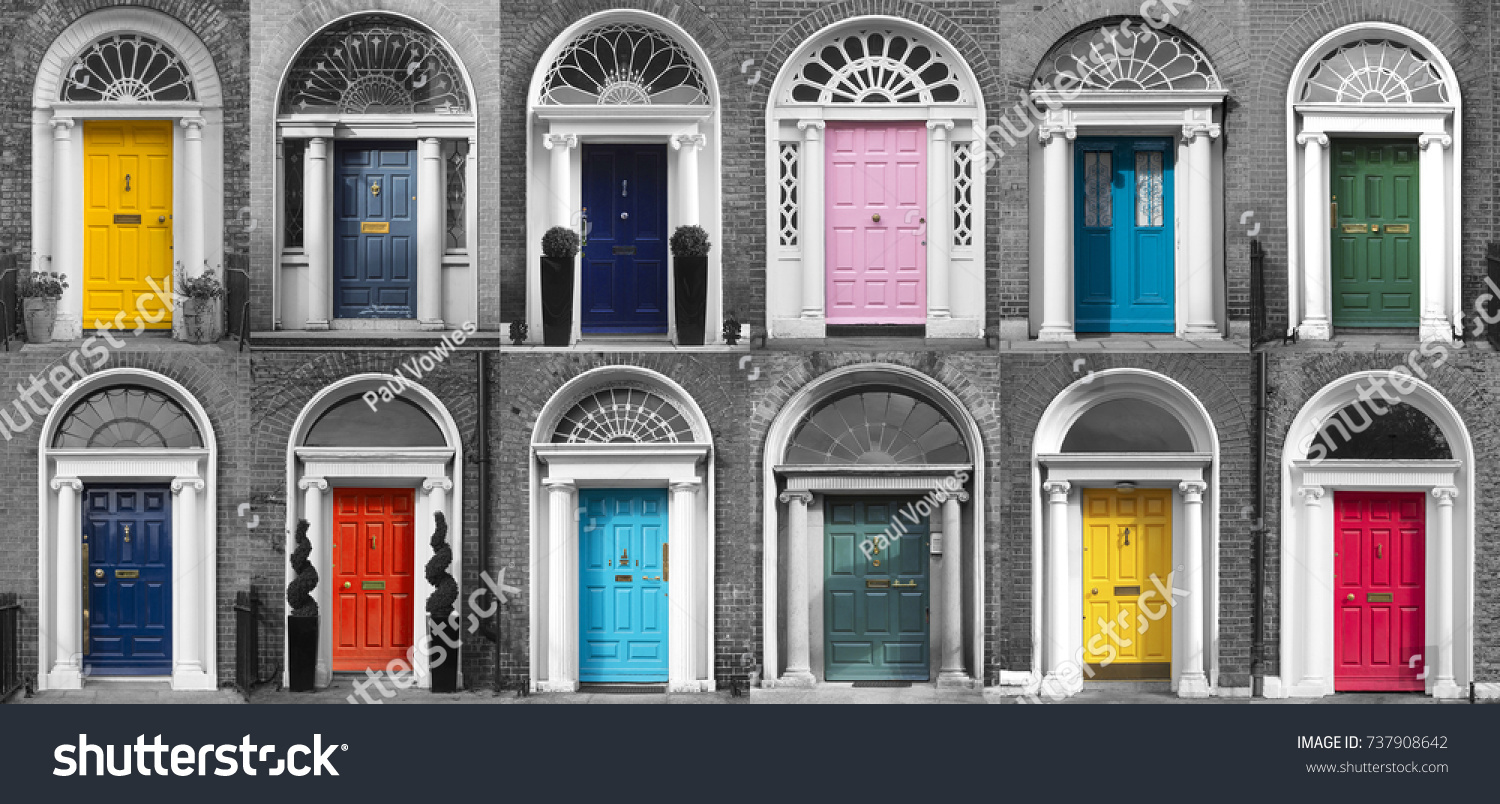 GEORGIAN DOORS - DUBLIN IRELAND & GEORGIAN DOORS DUBLIN IRELAND Stock Photo (100% Legal Protection ...