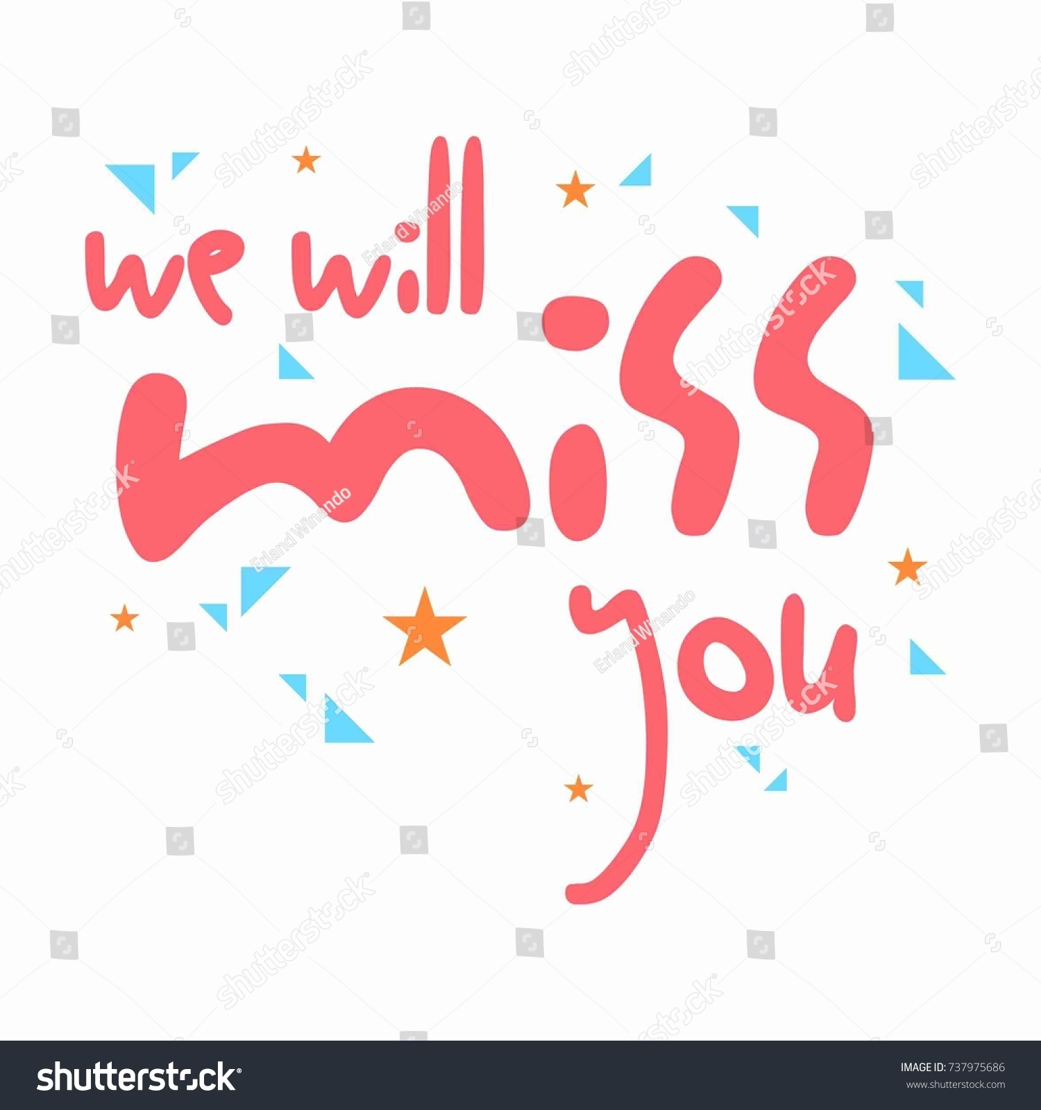 Farewell Card All Best Template Stock Vector Royalty Free 737975686