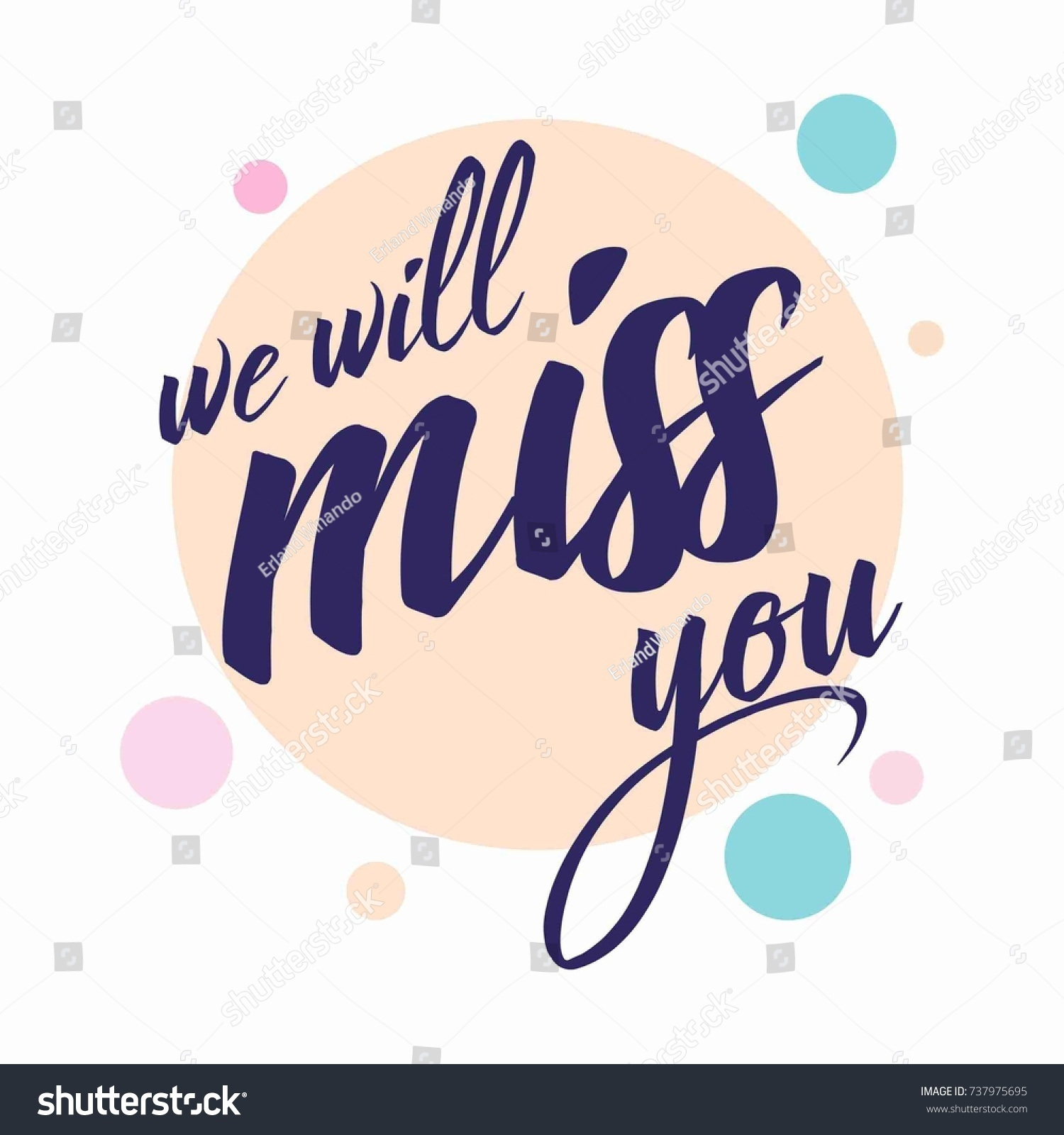 Farewell Card All Best Template Stock Vector Royalty Free 737975695
