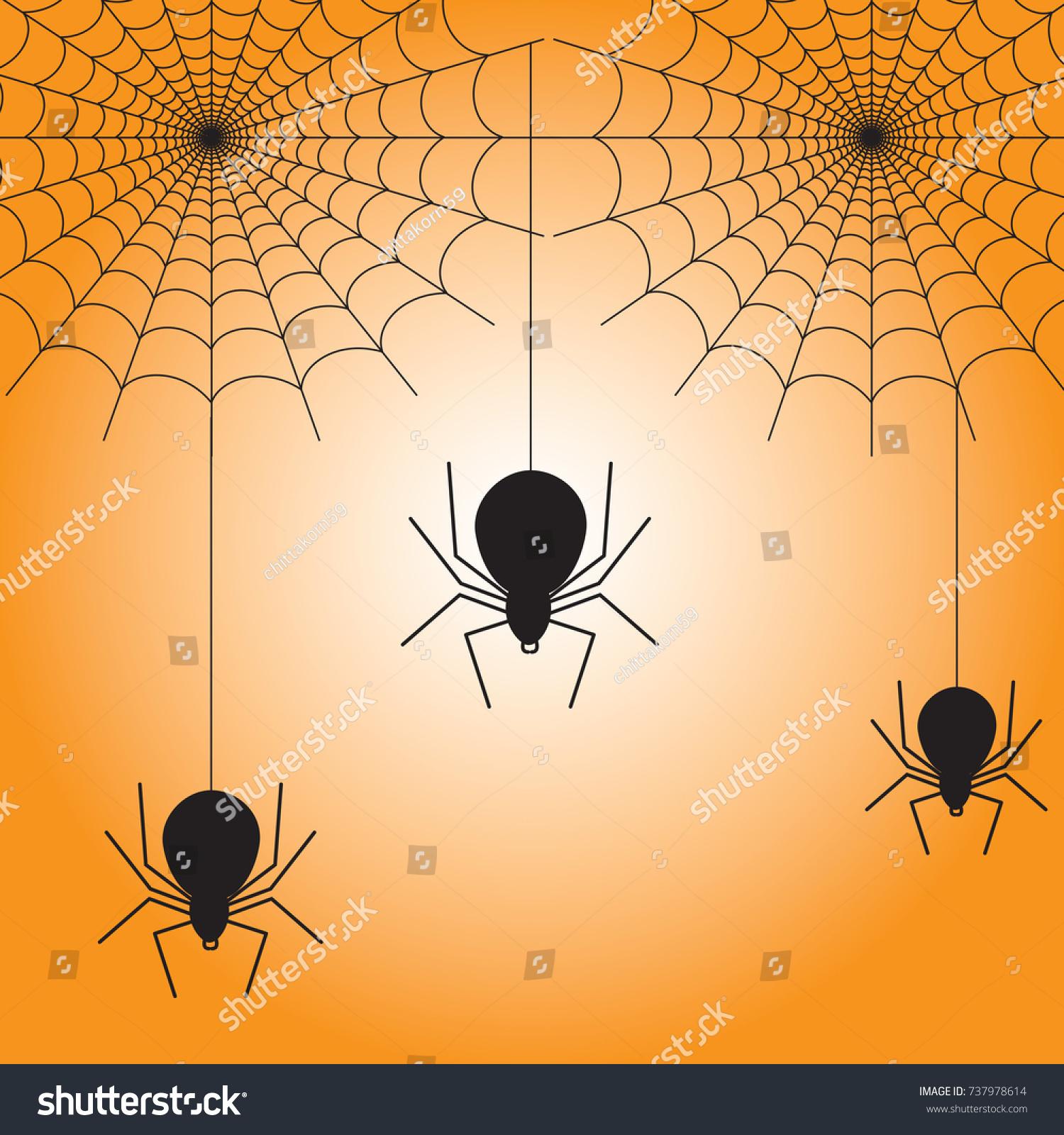 Good Wallpaper Halloween Spider - stock-vector-spiderweb-and-three-spiders-for-halloween-wallpaper-making-737978614  Gallery_233415.jpg