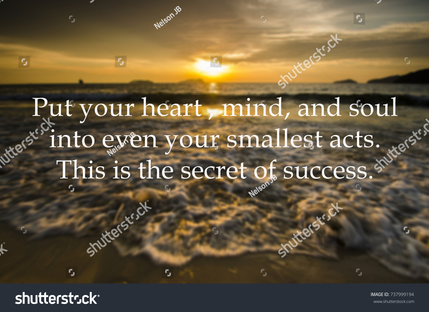 Positive Quotes Put Your Heart Mind Stock Photo Edit Now 737999194