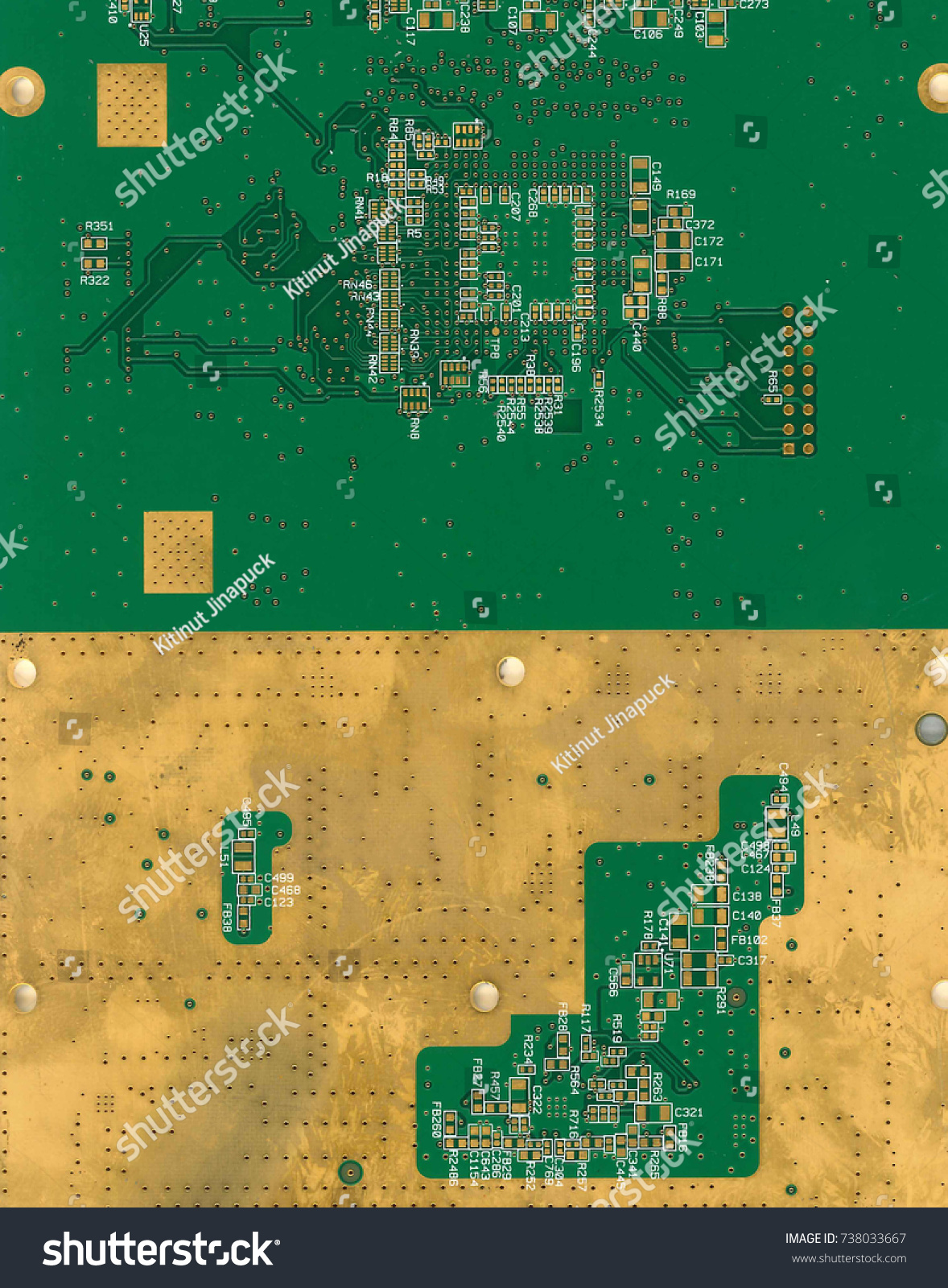 Green Print Circuit Board Enig Gold Stock Photo Edit Now 738033667 Or Surface Finishpcb Background