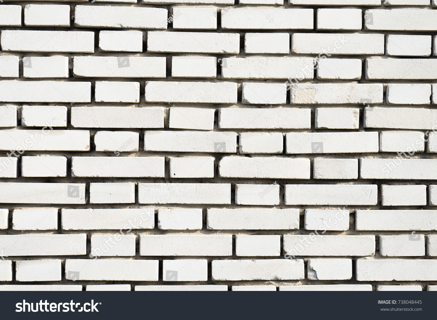 White Brick Wall Background Outdoor