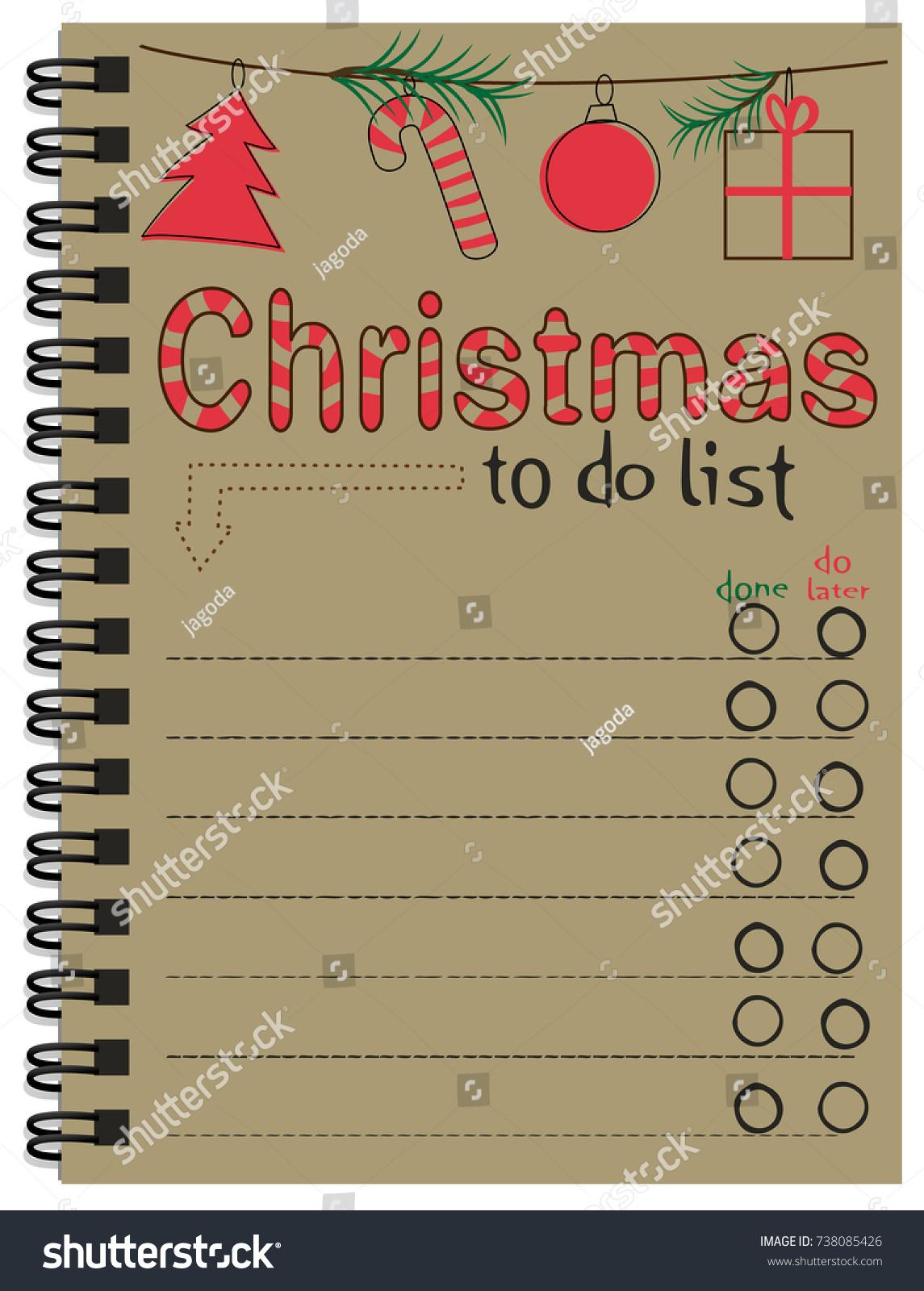 Christmas Do List Stock-Vektorgrafik (Lizenzfrei) 738085426 ...