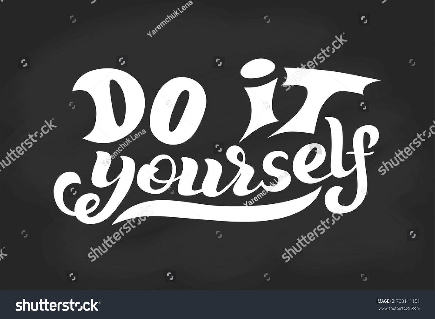 Hand lettering phrase do yourself diy stock vector 738111151 hand lettering phrase do yourself diy stock vector 738111151 shutterstock solutioingenieria Images