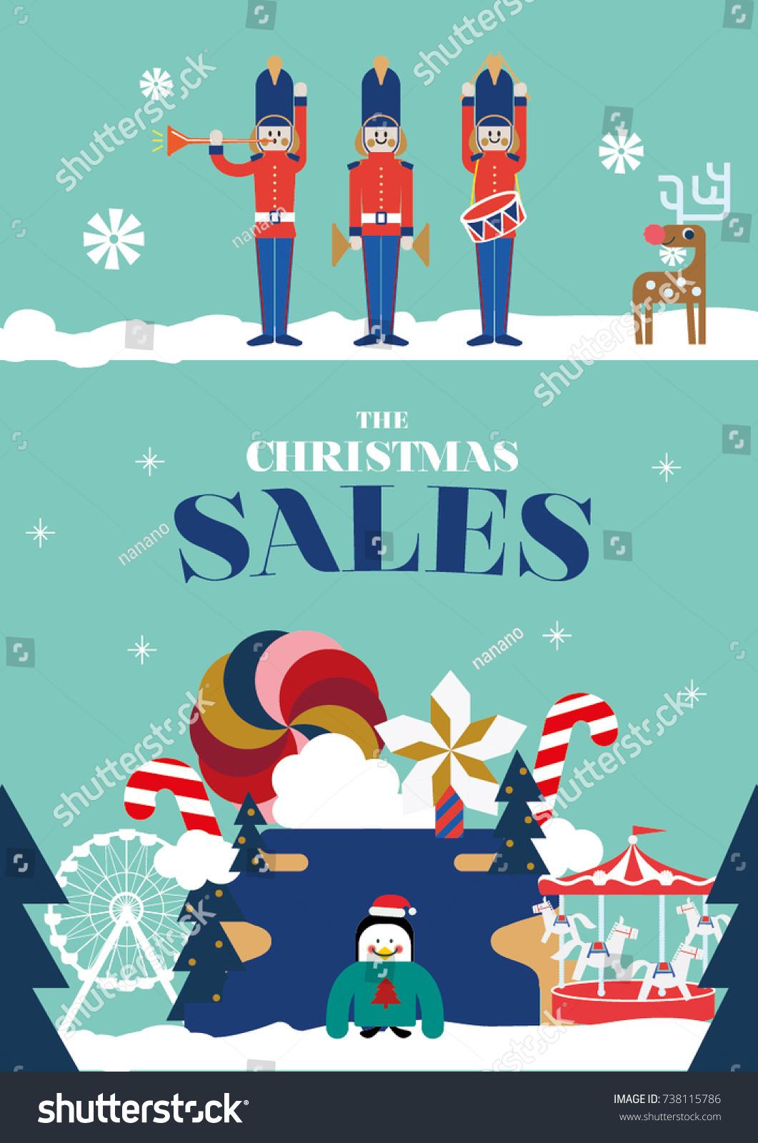 christmas greetings christmas invitation year end stock vector