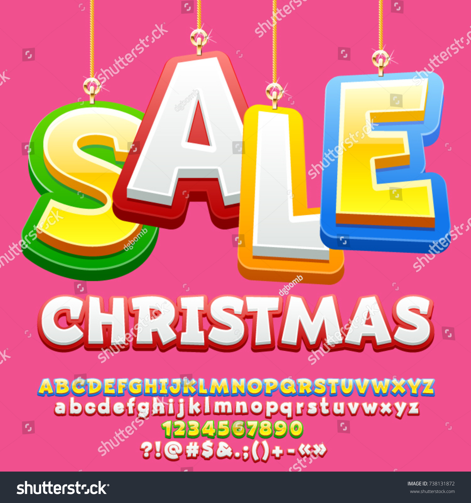 Vector Bright Poster Toys Christmas Sale Stock Vector (Royalty Free ...