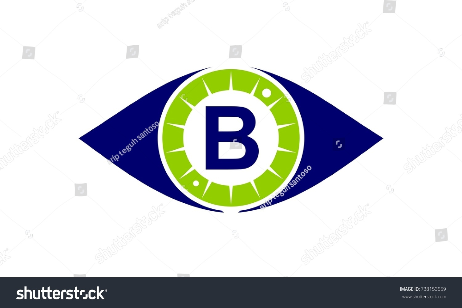 B Stock Solutions eye care solutions letter b stock vector (royalty free
