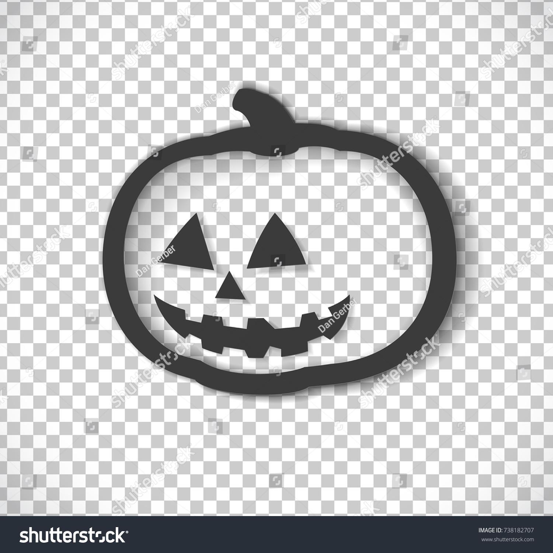 Vector Halloween Pumpkin Cutout Logo Isolated Stock Vector (2018 ...