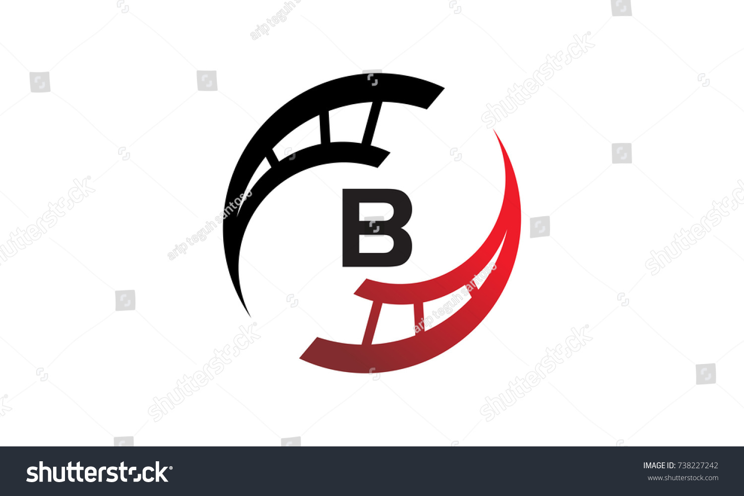 B Stock Solutions film solutions initial b stock vector (royalty free) 738227242