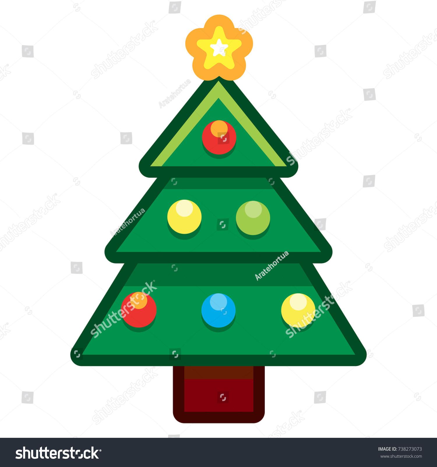 vector cartoon christmas tree isolated on stock vector (2018