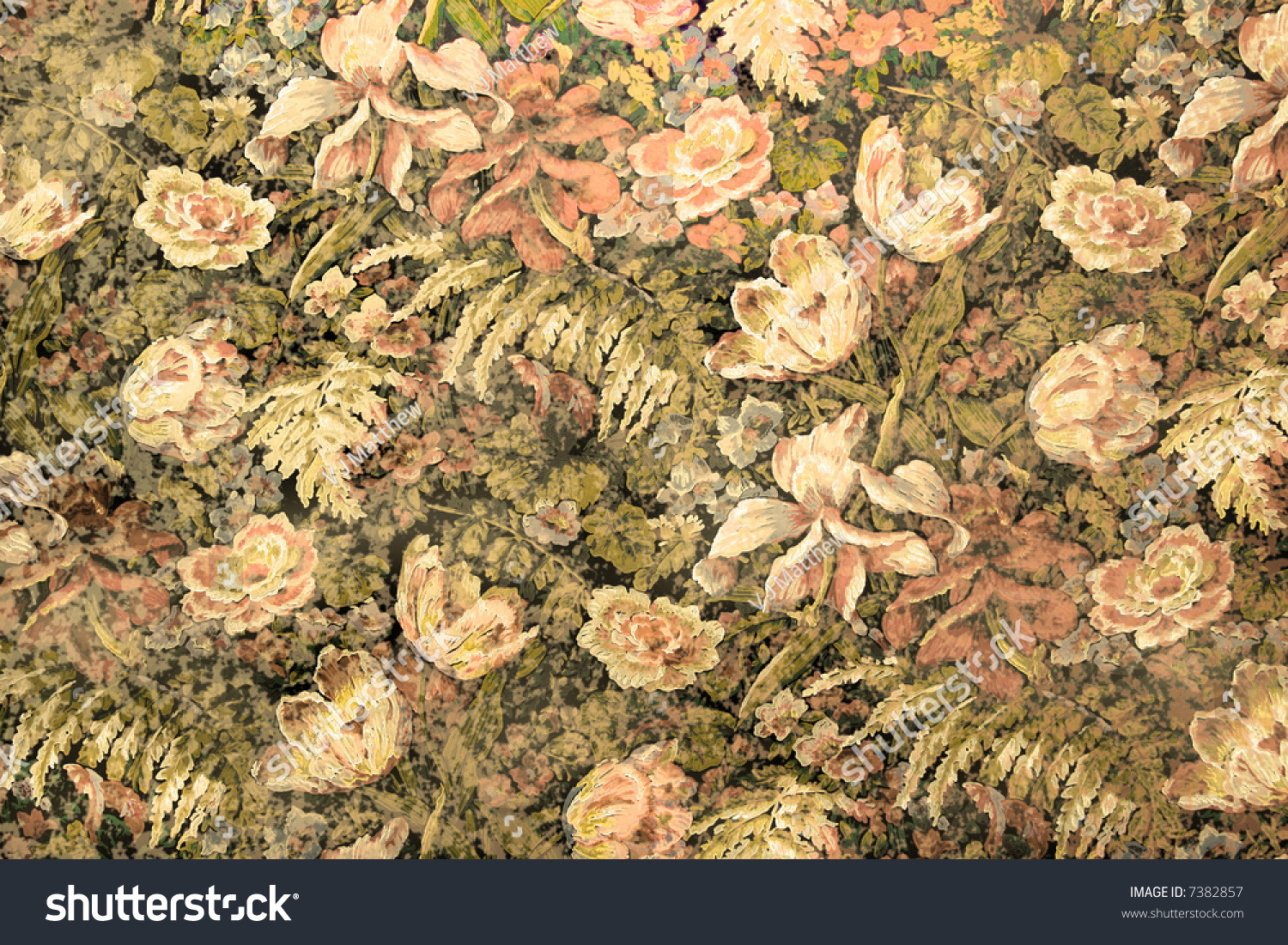 Grunge Old Fashioned Wallpaper Intense Floral Stock Photo (Edit Now ...
