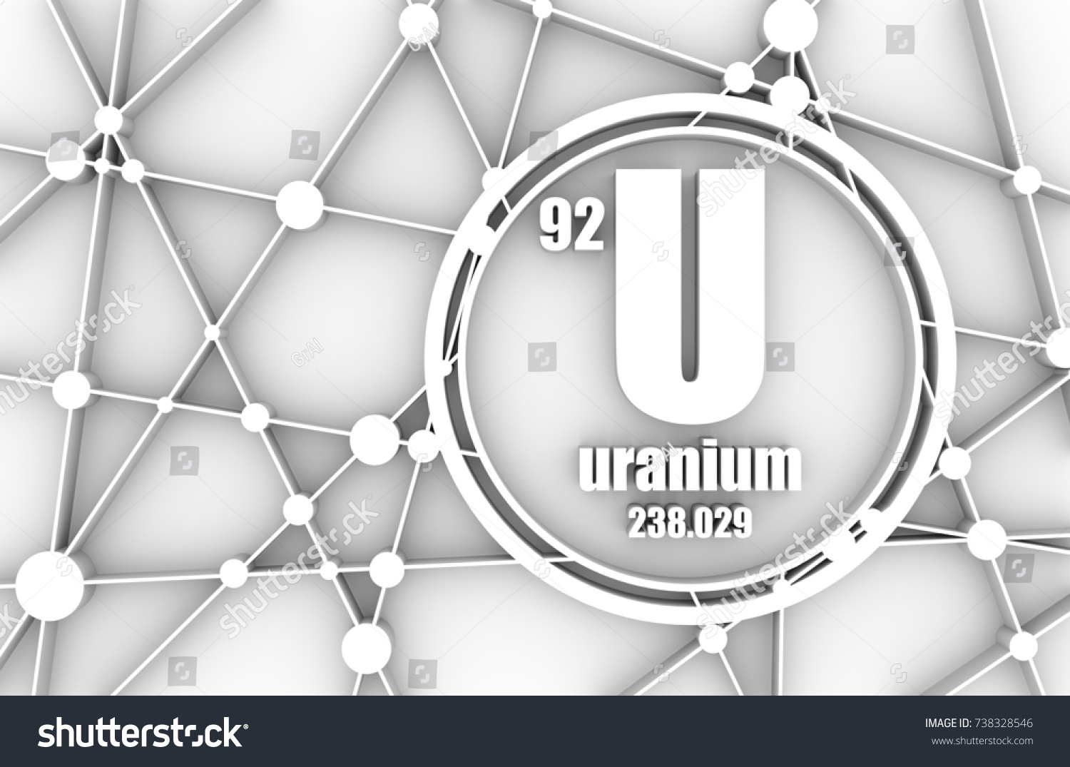 Uranium chemical element sign atomic number stock illustration uranium chemical element sign with atomic number and atomic weight chemical element of periodic urtaz Gallery