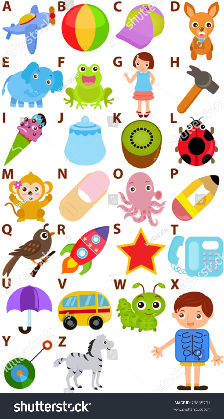 Make Pictures With Alphabets 12