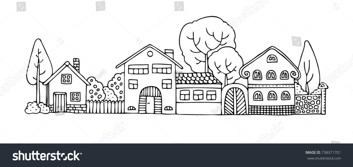 Neighborhood and cities 5 coloring pages | Coloring pages ... | 709x1500