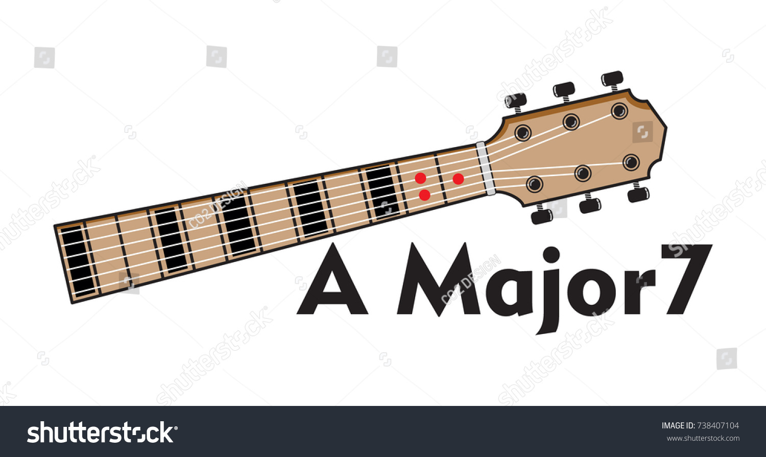 Vector Set Guitar Chord Chord Diagram Stock Vector Royalty Free
