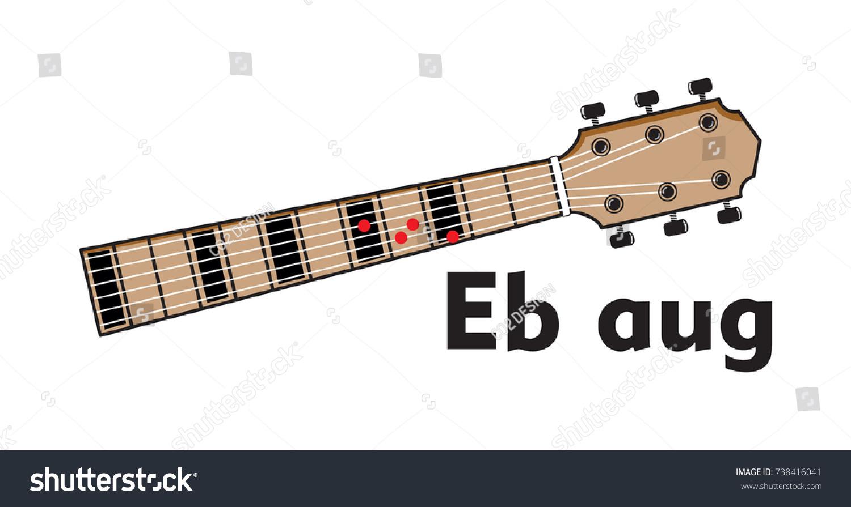 Vector Set Guitar Chord Chord Diagram Stock Vector 738416041