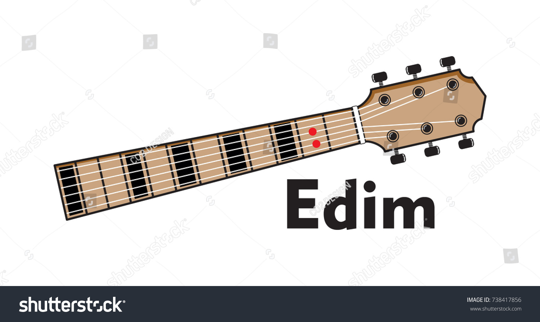 Vector Set Guitar Chord Diagram 738417856
