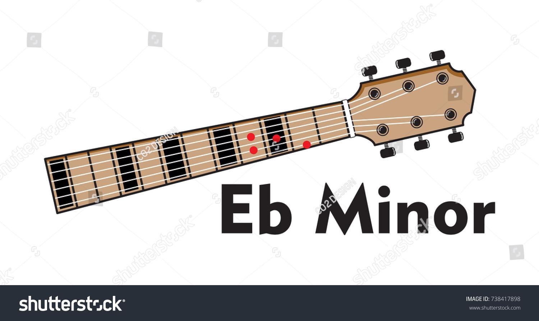 Vector Set Guitar Chord Chord Diagram Stock Vector Royalty Free