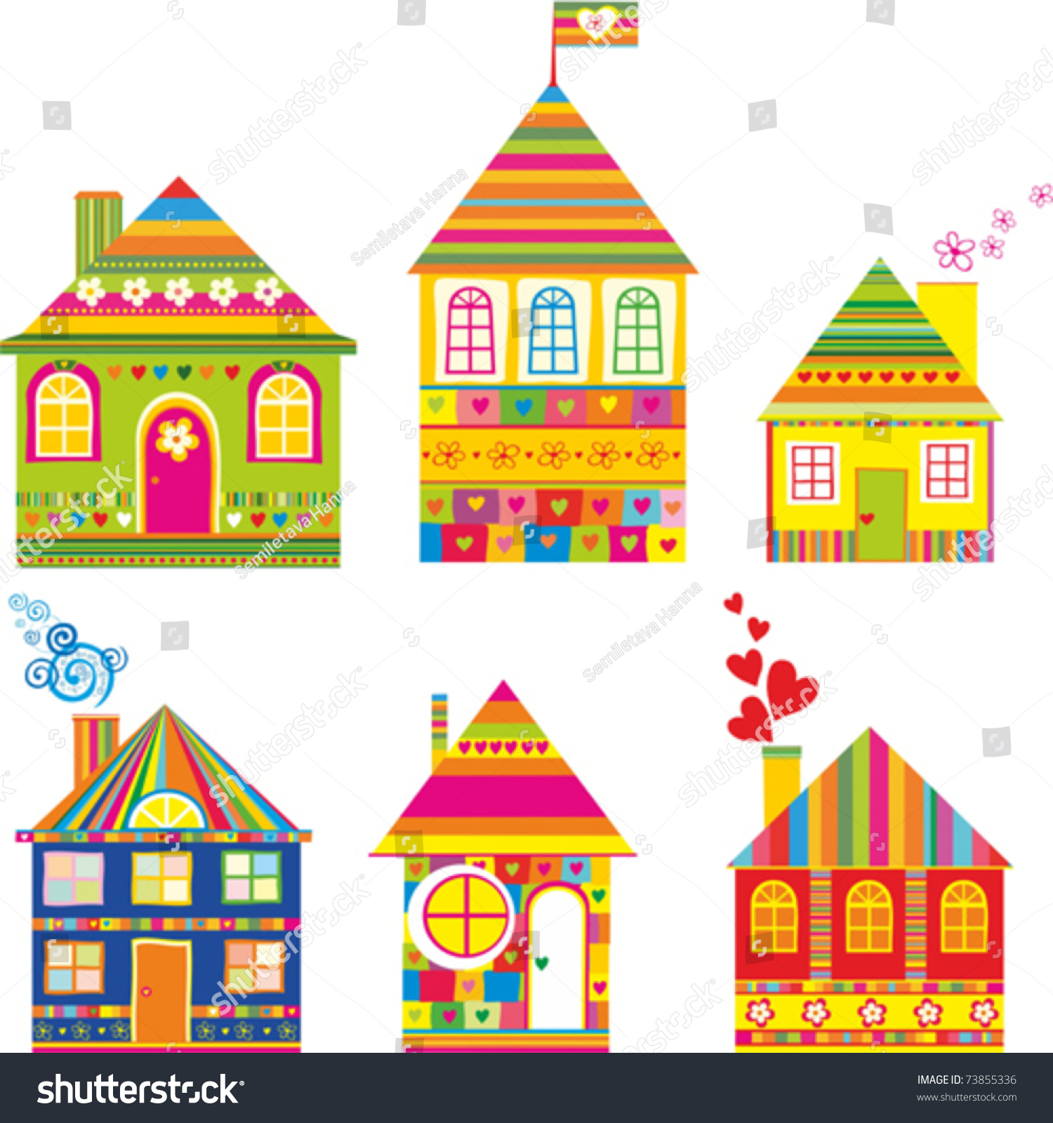 Tea party background royalty free stock photo image 28839215 - Collection Of Cute Houses In A Whimsical Childlike Style Isolated On White Background Vector