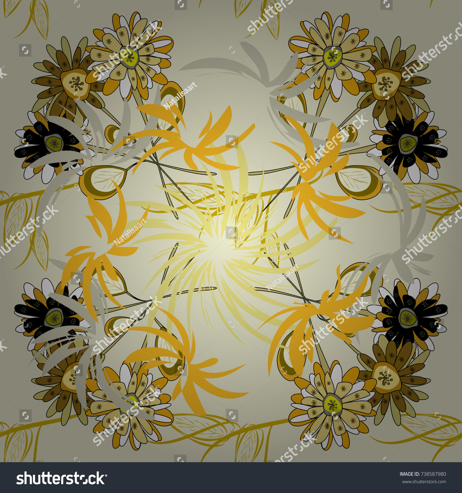 Seamless Pattern Fabric Gift Wrap Wall Stock Vector HD (Royalty Free ...