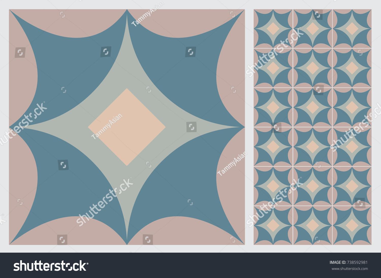 Arabic Patter Style Tiles Wall Floor Stock Vector 738592981 ...