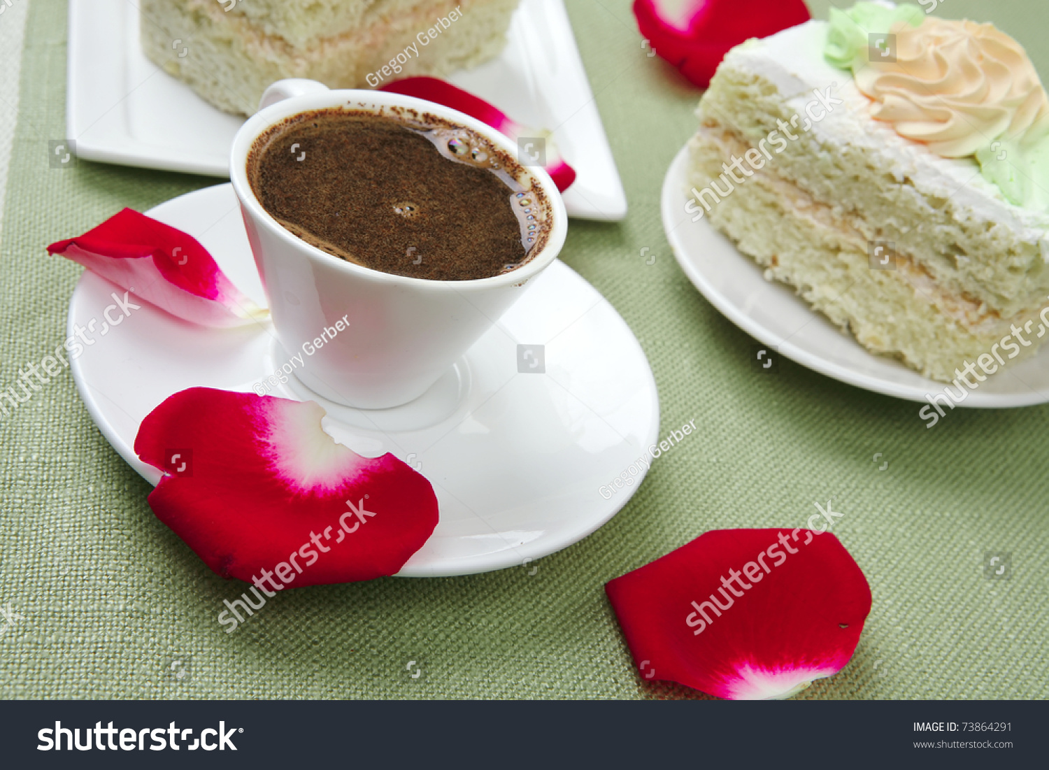 Good Morning : Cake With Whipped Cream Served With Black ...