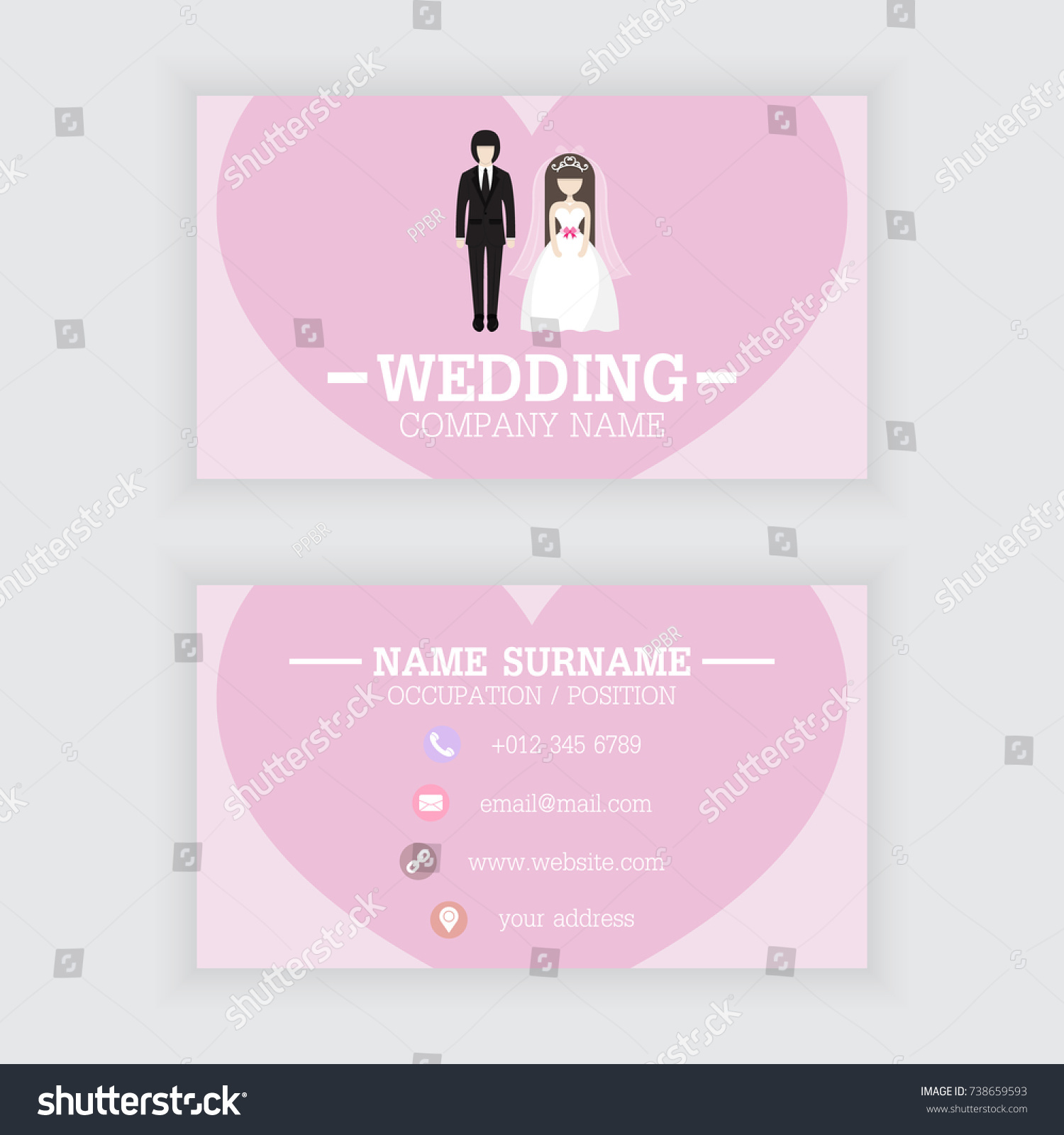 Vector Design Wedding Business Card Template Stock Vector HD ...