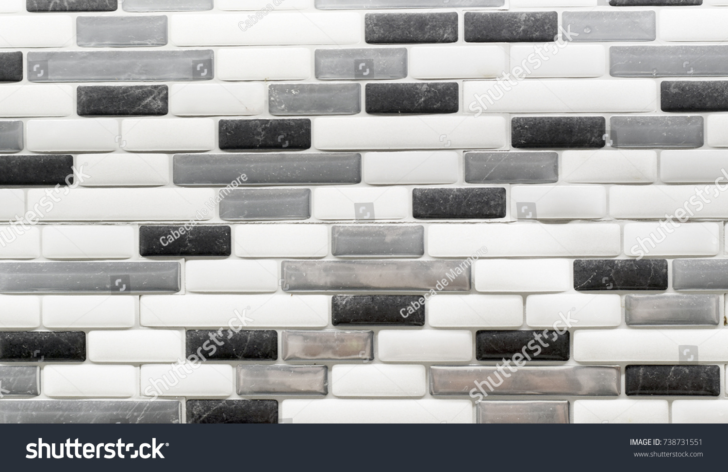 Black White Gray Glass Tile Backsplash Stock Photo (Royalty Free ...