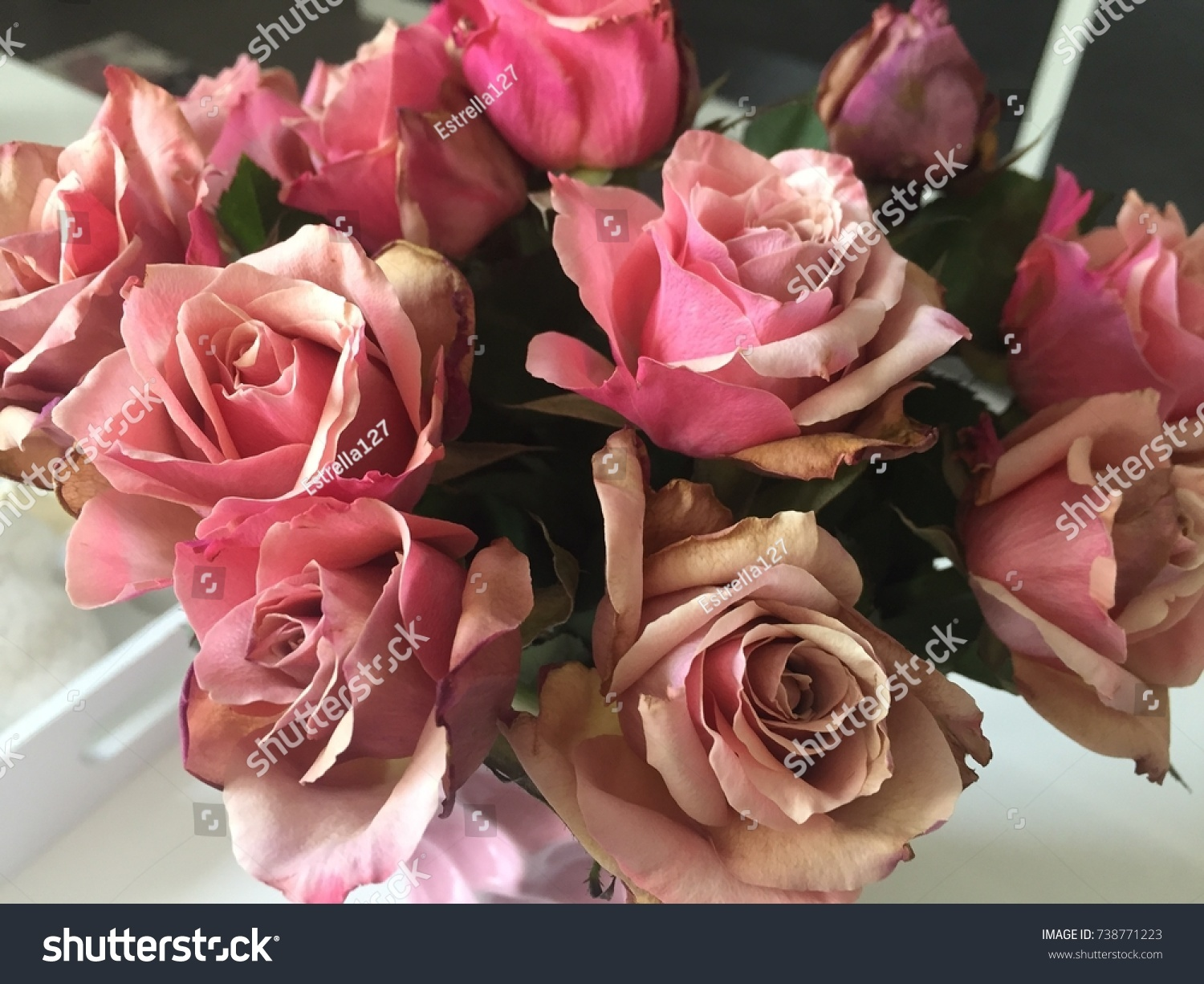 Beautiful vintage flower bouquet light pink stock photo edit now beautiful vintage flower bouquet with light pink roses izmirmasajfo