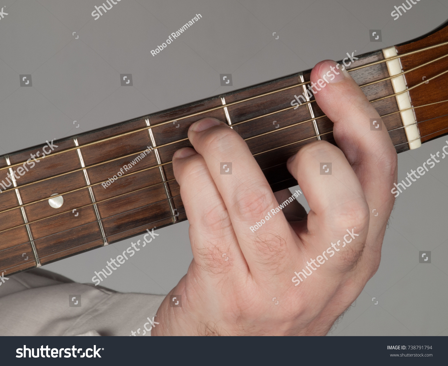 Primary Guitar Chord F Minor Stock Photo Edit Now 738791794