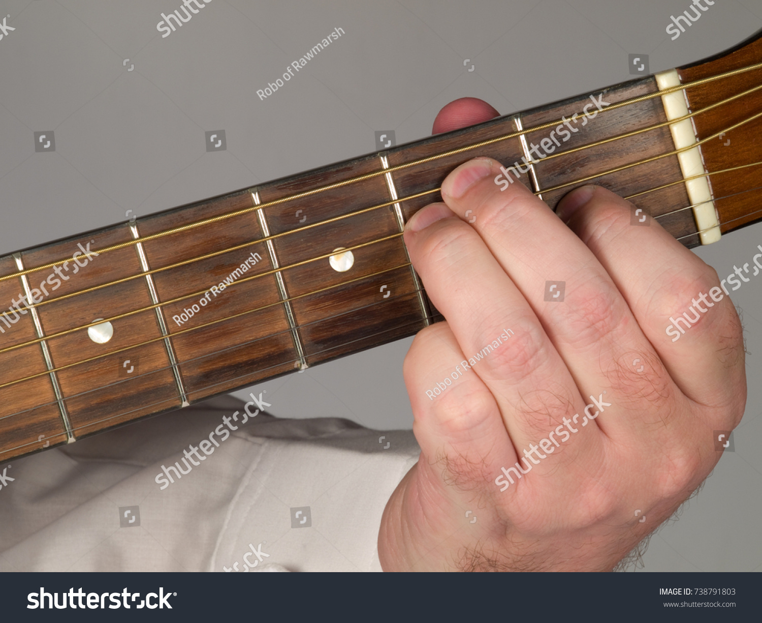 Primary Guitar Chord E Major Stock Photo Edit Now 738791803