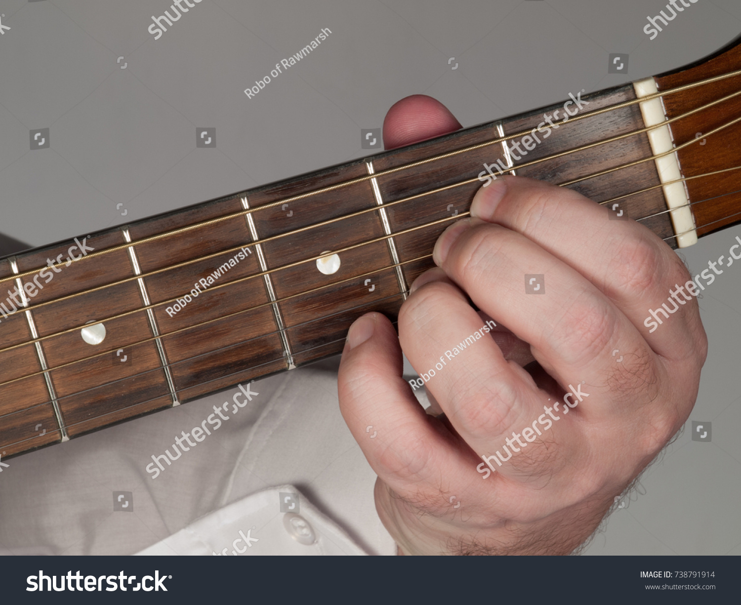 Primary Guitar Chord A 7 Major Alt Stock Photo Edit Now 738791914